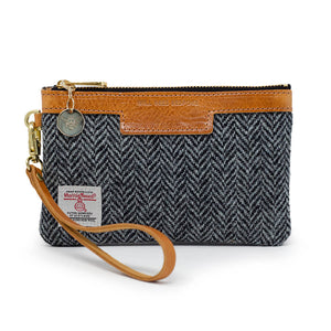 Premium Diana Mini Clutch - Harris Tweed® Grey Herringbone