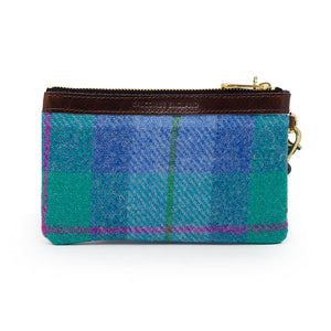 Premium Diana Mini Clutch - Harris Tweed® Blue & Teal