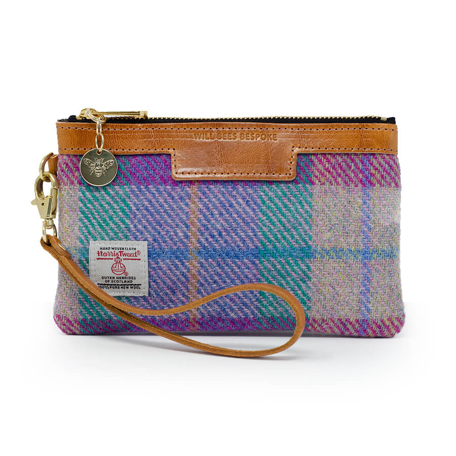 Premium Diana Mini Clutch - Harris Tweed® Pink & Purple