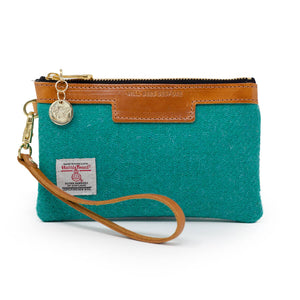 Premium Diana Mini Clutch - Harris Tweed® Teal