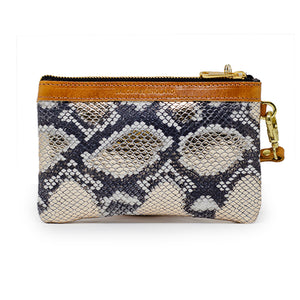 Premium Diana Mini Clutch - Metallic Snake