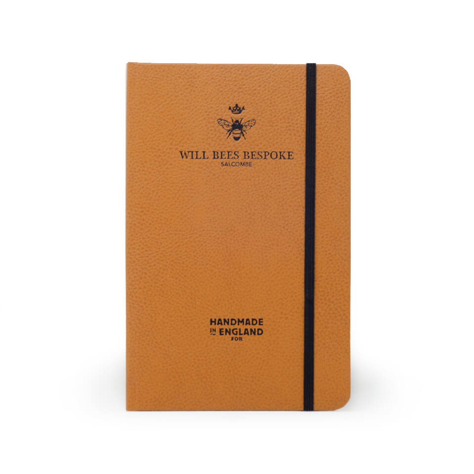Quarto Notebook - Recycled Leather in Tan - Will Bees Bespoke