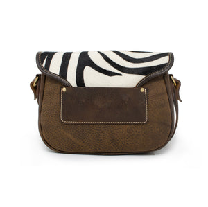 Rosalind Saddle Bag - Zebra Print