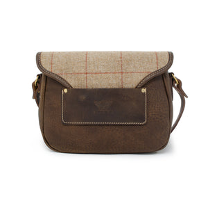 Rosalind Saddle Bag - Brown Tweed Check