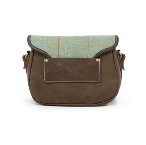 Rosalind Saddle Bag - Green Tweed Check
