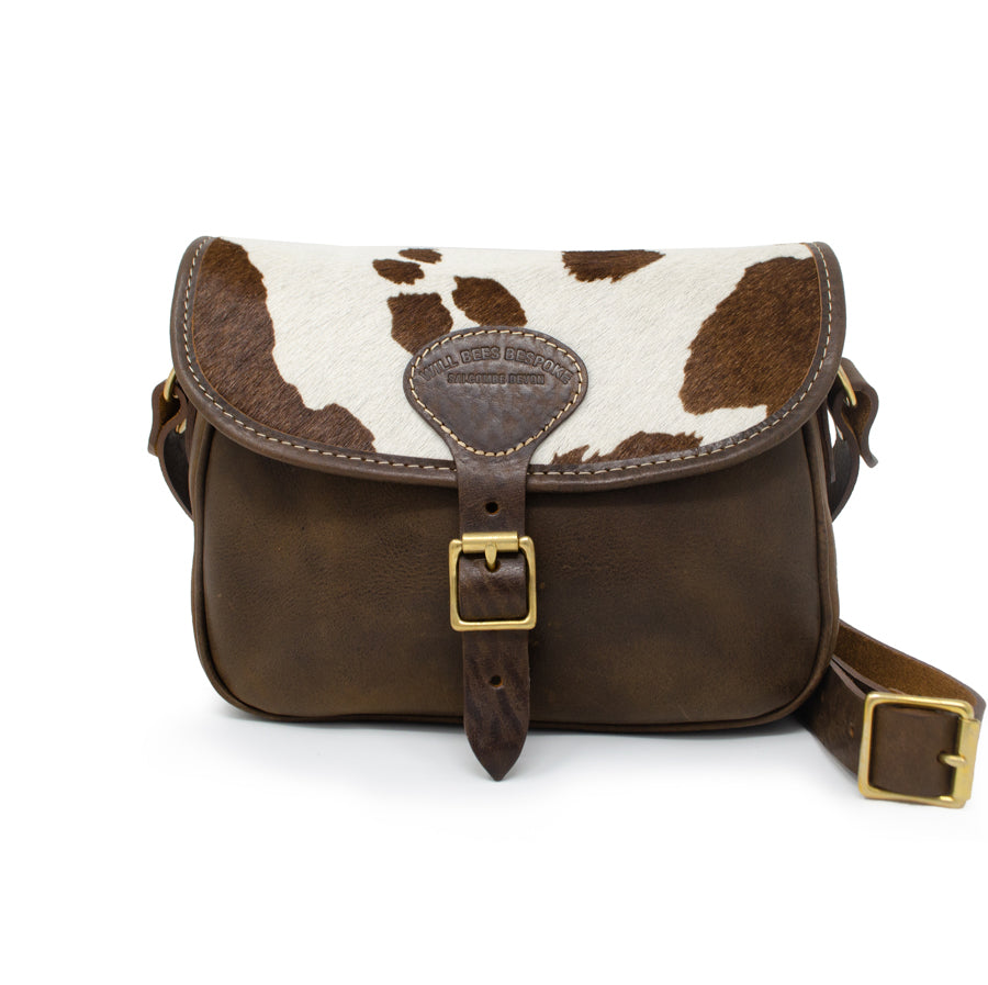 Rosalind Saddle Bag - Cow Print - Will Bees Bespoke