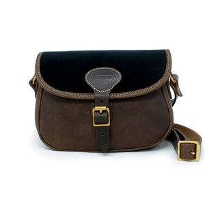 Rosalind Saddle Bag - Black Velvet