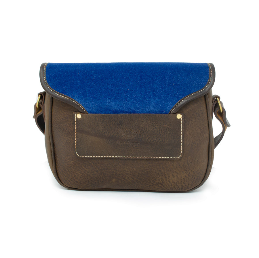 Rosalind Saddle Bag - Blue Velvet