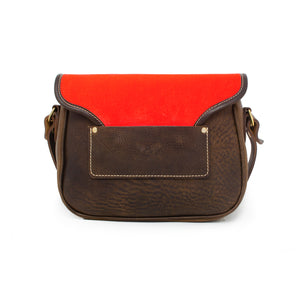 Rosalind Saddle Bag - Neon Coral Velvet
