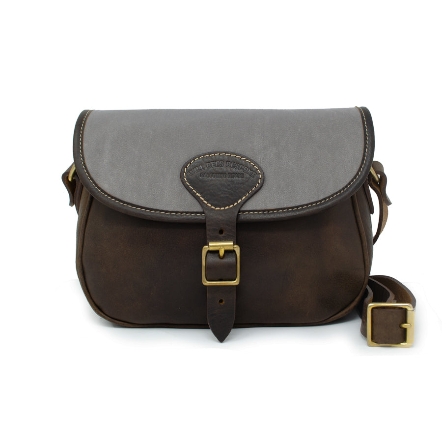 Rosalind Saddle Bag - Grey Velvet - Will Bees Bespoke