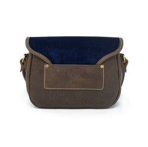 Rosalind Saddle Bag - Navy Velvet