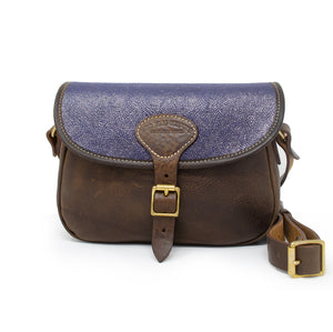Rosalind Saddle Bag - Blue Paisley Sparkle