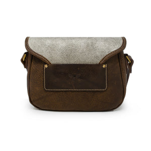 Rosalind Saddle Bag - Silver Paisley Sparkle