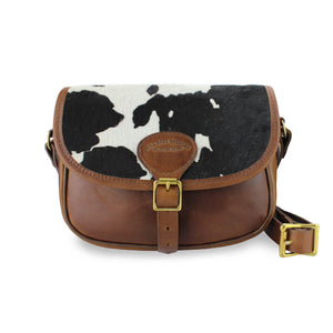 Rosalind Saddle Bag - Black Cow