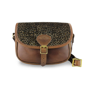 Additional Saddle Bag Panel - Dark Leopard Velvet