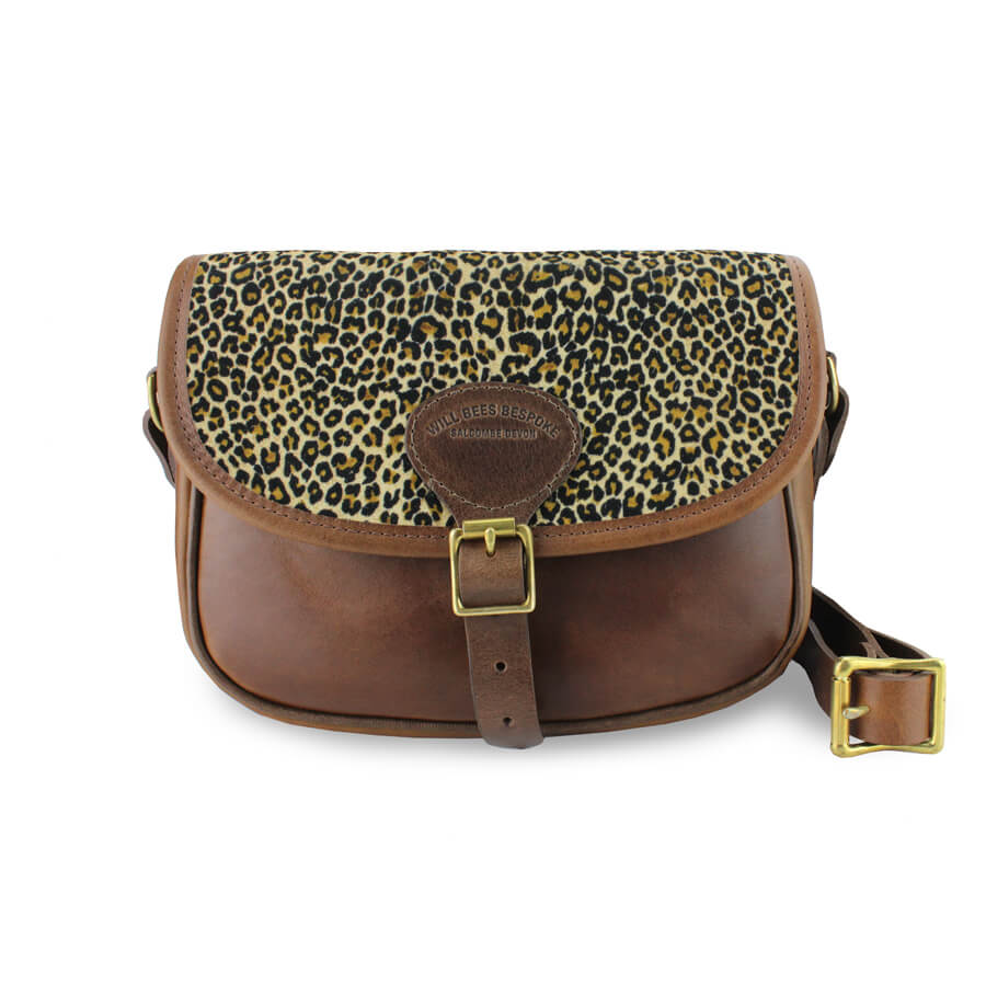 Rosalind Saddle Bag - Light Leopard Velvet