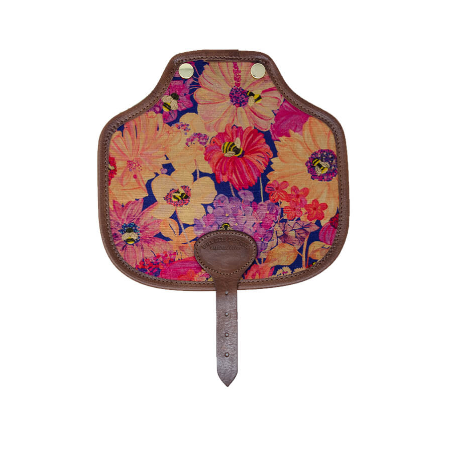 Additional Saddle Bag Panel - Bumblebee Paradise in Pink sunset - Will Bees Bespoke