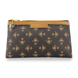 Signature Cosmetic Bag - Brown