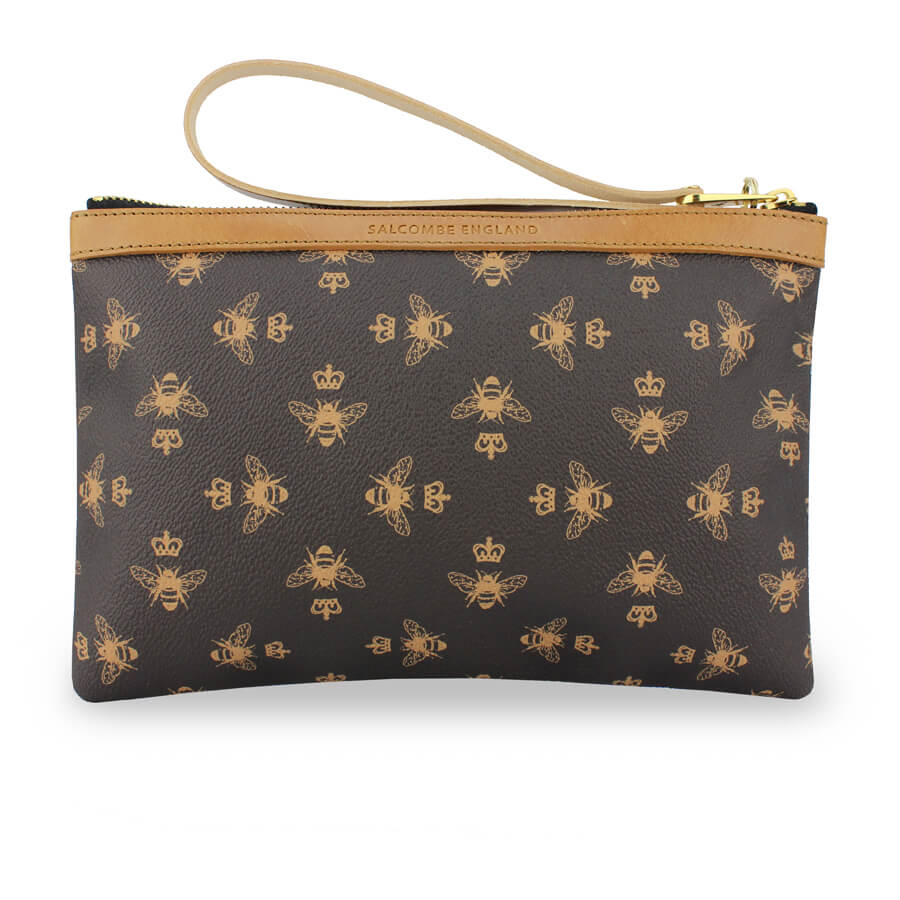 Signature Frances Clutch - Brown - Will Bees Bespoke