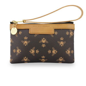 Signature Ada Mini Clutch - Brown