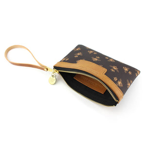 Signature Mini Clutch - Brown