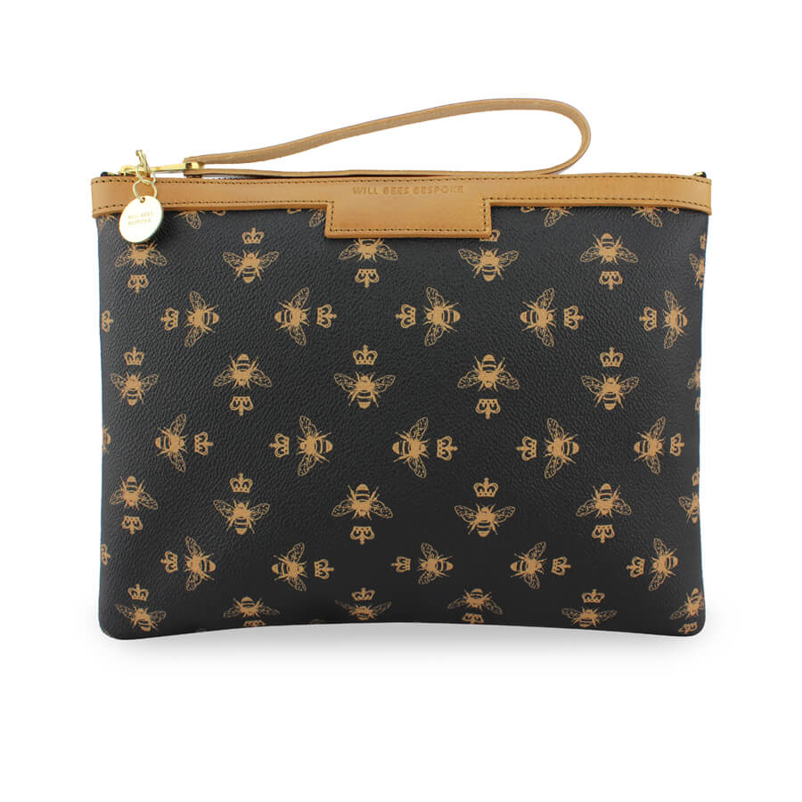 Signature Charlotte Clutch - Black - Will Bees Bespoke