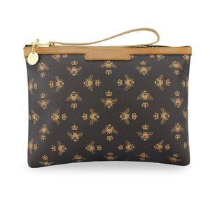 Signature Charlotte Clutch - Brown