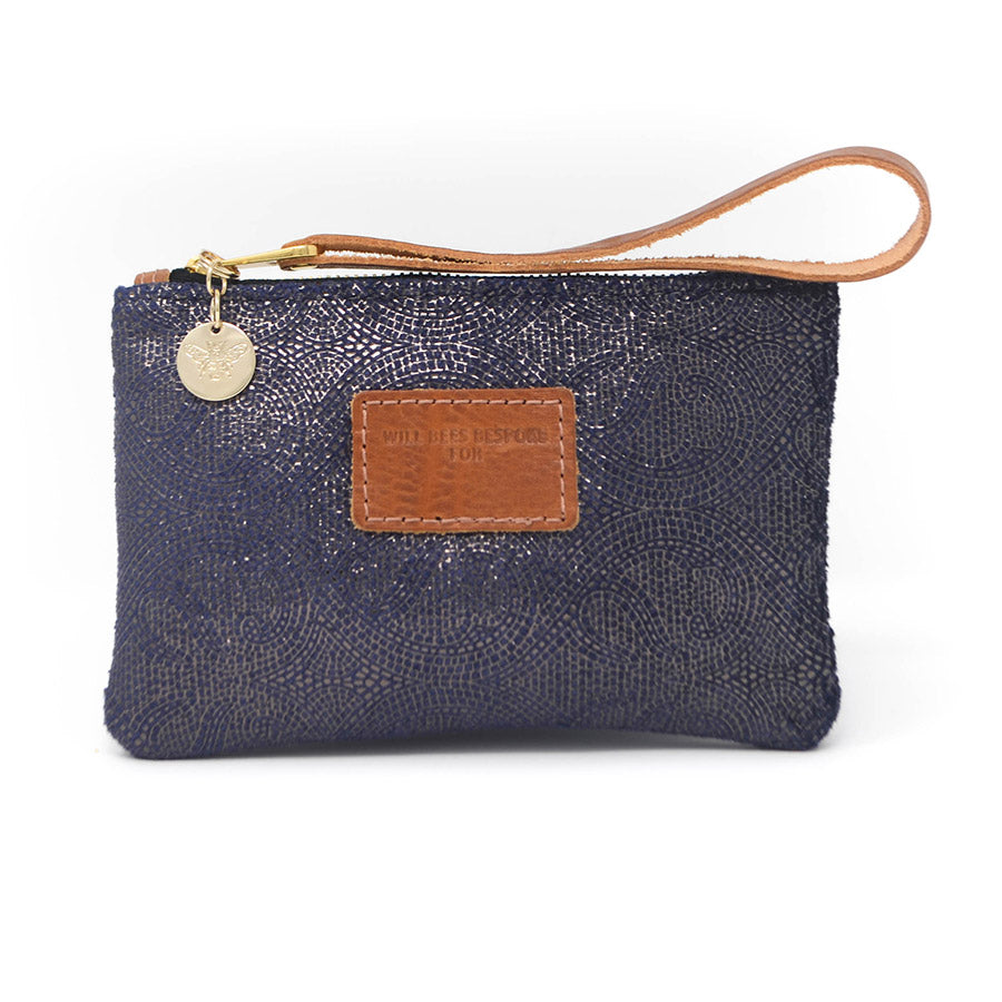 Ada Mini Clutch - Blue Paisley Sparkle