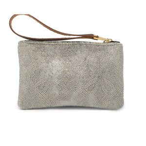 Ada Mini Clutch - Silver Paisley Sparkle