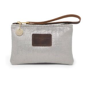 Ada Mini Clutch - Silver Herringbone Sparkle