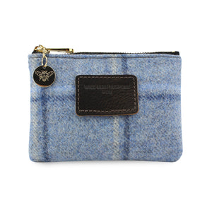 Jane Coin Purse - Blue Tweed Check