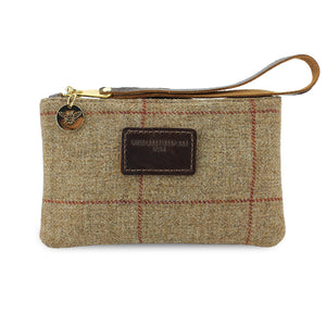 Ada Mini Clutch - Brown Tweed Check