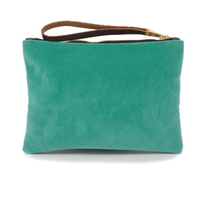 Frances Clutch - Teal Velvet