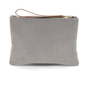 Frances Clutch - Grey Velvet