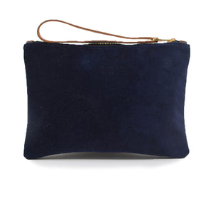Frances Clutch - Navy Velvet