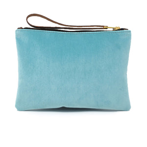 Frances Clutch - Pale Blue Velvet