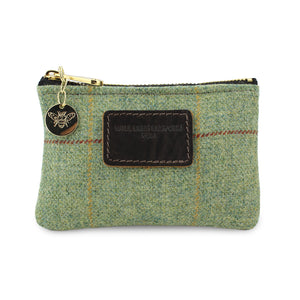 Jane Coin Purse - Green Tweed Check