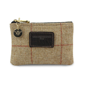 Jane Coin Purse - Brown Tweed Check
