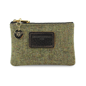 Jane Coin Purse - Green Tweed Herringbone