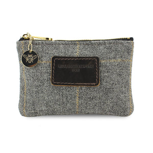 Jane Coin Purse - Grey Tweed Check