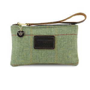 Ada Mini Clutch - Green Tweed Check