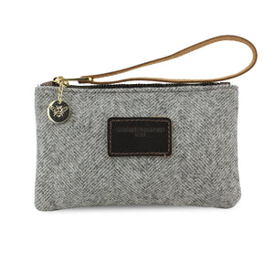 Ada Mini Clutch - Grey Tweed Herringbone