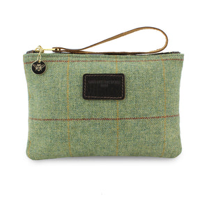 Frances Clutch - Green Tweed Check