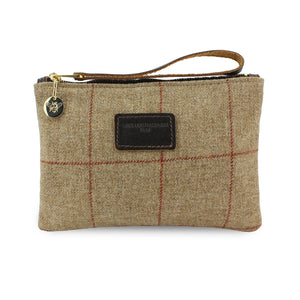 Frances Clutch - Brown Tweed Check