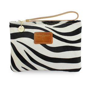 Frances Clutch - Zebra Print