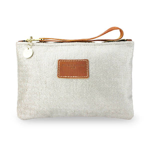 Frances Clutch - Cream Silver Sparkle