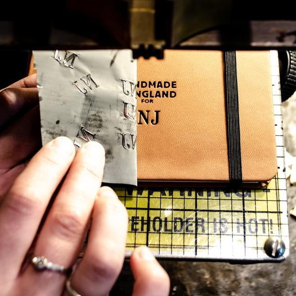 Quarto Notebook - Recycled Leather in Tan