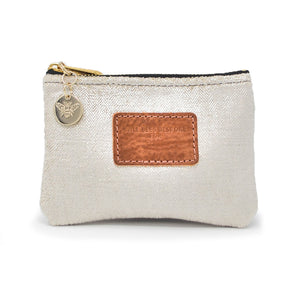 Jane Coin Purse - Cream Silver Sparkle
