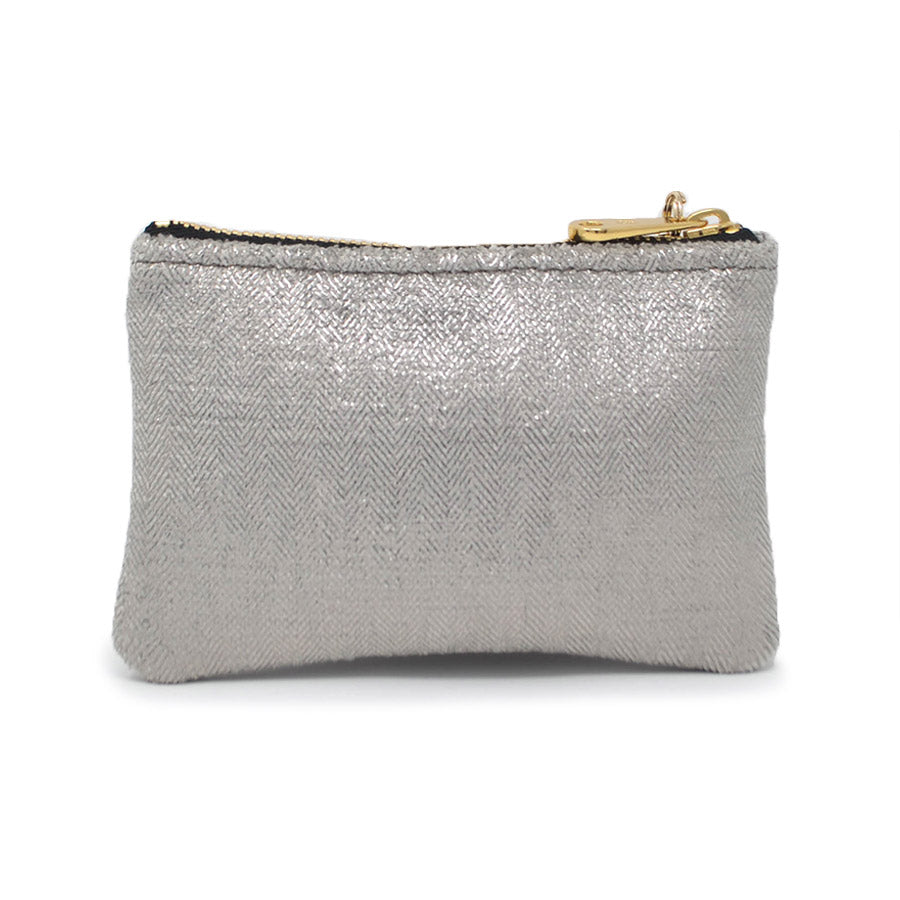 Jane Coin Purse - Silver Sparkle - Will Bees Bespoke