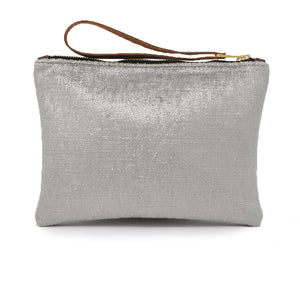 Frances Clutch - Silver Herringbone Sparkle